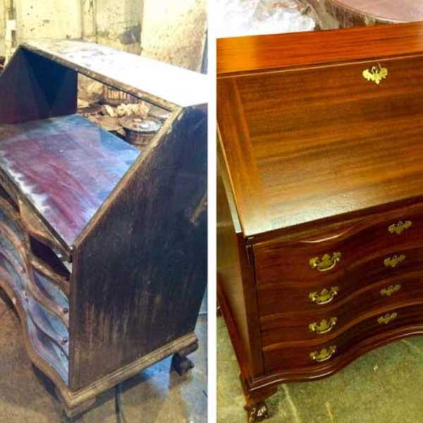 Secretary restoration before and after